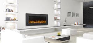 "Allure™ 50 Electric Fireplace | NEFL50FH |The 50"" Allure™ Electric Fireplace puts out an incredible 5,000 BTU's and will heat a space up to 400 sq. ft. 