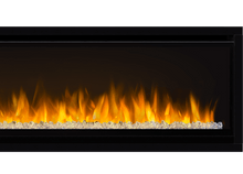 Load image into Gallery viewer, Napoleon's Alluravision™ 74 Deep Depth linear electric fireplace allows you to see the fireplace and not the frame with its nearly frameless linear design. As a contemporary electric fireplace, the frameless modern look is just as important as its functionality. Easy to use, the plug and play installation allows this unit to be hung on the wall and turned on immediately.