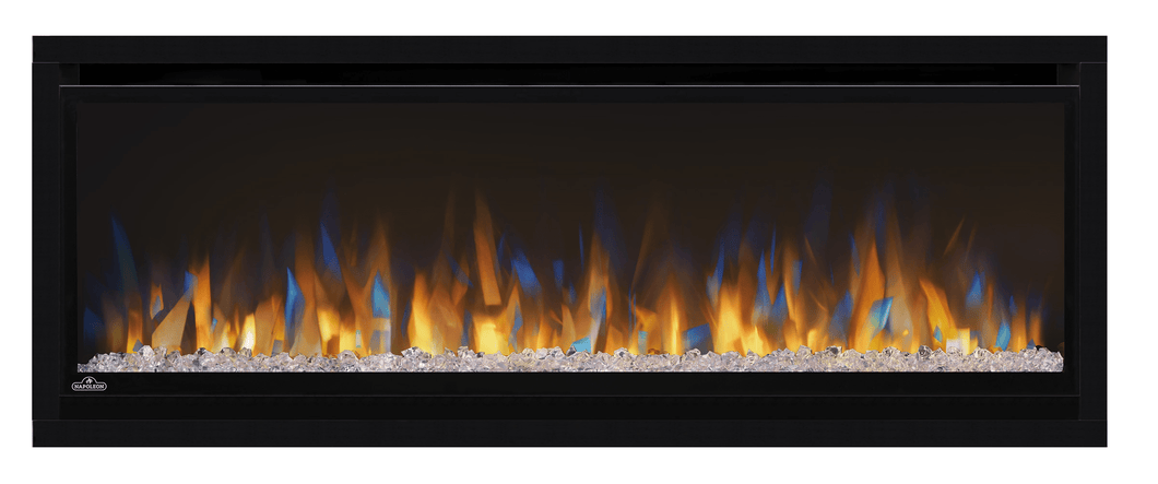 NAPOLEON | ALLURAVISION™ 42 DEEP DEPTH | The Alluravision Deep Depth linear electric fireplace enhances any space, just hang and plug in.Napoleon's Alluravision™ 42 Deep Depth linear electric fireplace allows you to see the fireplace and not the frame with its nearly frameless linear design. As a contemporary electric fireplace, the frameless modern look is just as important as its functionality. Easy to use, the plug and play installation allows this unit to be hung on the wall and turned on immediately.