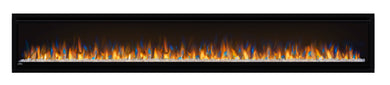 Alluravision™ 100 Deep Depth Electric Fireplace. Napoleon's Alluravision™ 100 Deep Depth linear electric fireplace allows you to see the fireplace and not the frame with its nearly frameless linear design. As a contemporary electric fireplace, the frameless modern look is just as important as its functionality. Easy to use, the plug and play installation allows this unit to be hung on the wall and turned on immediately. The Alluravision™ 100 can also be hardwired in to hide plugs.