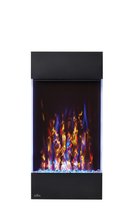 Load image into Gallery viewer, Create a stunning focal point with Napoleon's Allure™ Vertical Electric Fireplace. Available in two sizes, this fireplace is not just perfect for any room but for EVERY room! The vertical design hosts a collection of features including an LED ember bed, flames and side accent lights with more than 6 color options. Operable with or without heat allows you to enjoy this statement piece all year round no matter the season