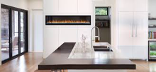 Load image into Gallery viewer, ALLURAVISION™ 74 SLIMLINE Wall Hanging Electric Fireplace