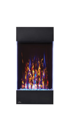 Create a stunning focal point with Napoleon's Allure™ Vertical Electric Fireplace. Available in two sizes, this fireplace is not just perfect for any room but for EVERY room! The vertical design hosts a collection of features including an LED ember bed, flames and side accent lights with more than 6 color options. Operable with or without heat allows you to enjoy this statement piece all year round no matter the season