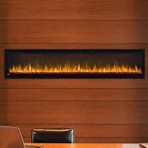Alluravision™ 74 Slimline Electric Fireplace. NEFL74CHS. The Alluravision™ 100 Slimline linear electric fireplace offers a quick and simple way to enhance an entire space with warmth and a dazzling show of flames.