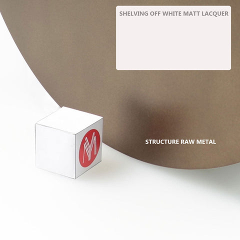 Image of Infinito Library Étagerè -- Single -- Off-White Matte Lacquer Shelves