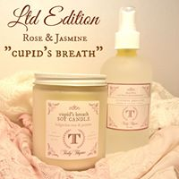 Tidy Thyme 100% Plant-based Home and Cleaning presents our Valentine's Day special, Cupid's Breath, featuring Jasmine and Bulgarian Rose essential oils