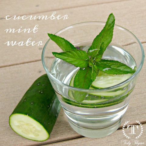 Tidy Thyme, maker of 100% plant based products for green cleaning and the natural home, suggests keeping hydrated this summer with tasty infused waters, like cucumber mint water. Mm, refreshing!