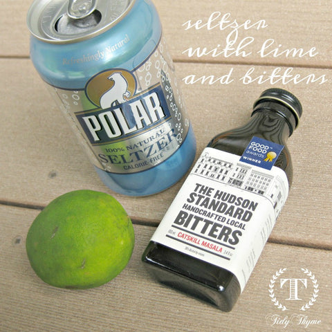 Tidy Thyme, makers of 100% plant based products for green cleaning and the natural home, is a huge fan of refreshing drinks made with bitters and seltzer for the summertime.