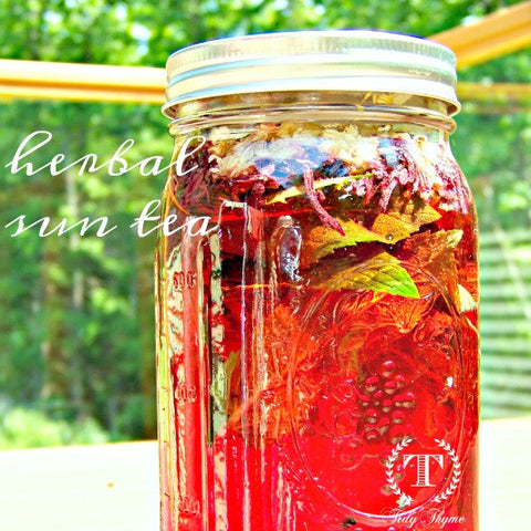 Tidy Thyme, makers of 100% plant based products for the natural home and green cleaning, loves to brew up a jar or two of sun tea on a bright sunny day. So healthy and easy!