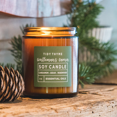 gentleman's cavern soy candle