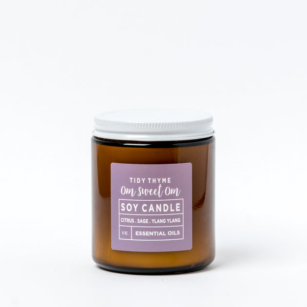 om sweet om soy candle