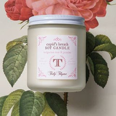 Tidy Thyme Cupid's Breath Non-GMO Soy Candle: 100% Plant Based with a romantic blend of pure essential oils