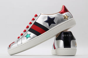 "Gucci Ace ""Silver/Blue/Red"""