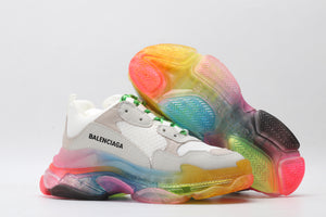 "Balenciaga Triple S ""White/Rainbow"""