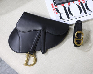 "Bolsa Christian Dior Saddle ""Black/Gold Logo"""