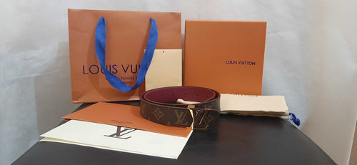 Cinto Louis Vuitton Reversível Belt