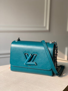 "Bolsa Louis Vuitton Twist MM ""Azul Agua"""