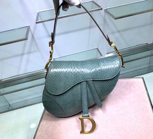 "Bolsa Christian Dior Saddle ""Verde Jade"""