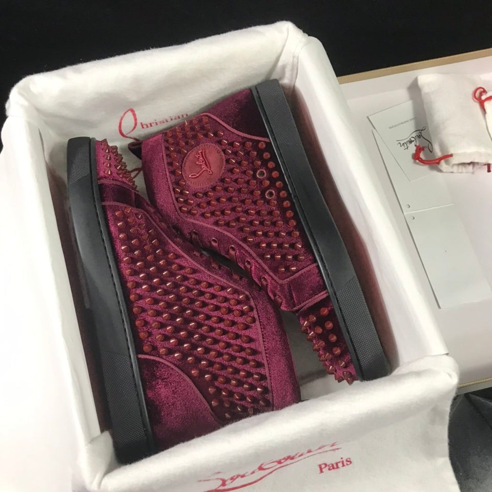 "Christian Louboutin Louis Spike ""Bordo"""