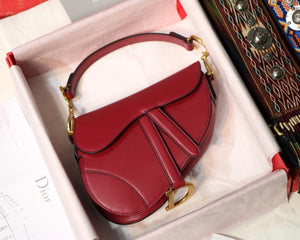 "Bolsa Christian Dior Saddle ""Cherry Red"""