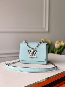 "Bolsa Louis Vuitton Twist Mini ""Azul Claro"""