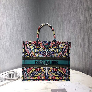 "Bolsa Christian Dior Book Tote ""Borboleta Colorida"""