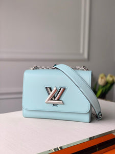 "Bolsa Louis Vuitton Twist MM ""Azul Claro"""