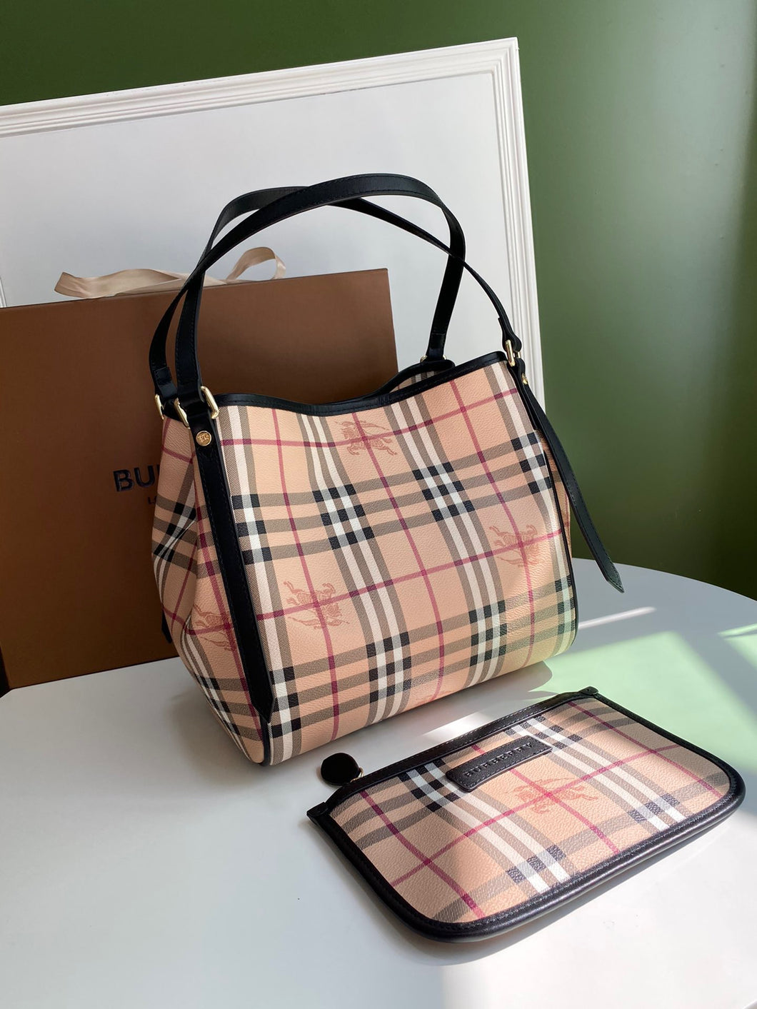 Bolsa Burberry House Check Tote
