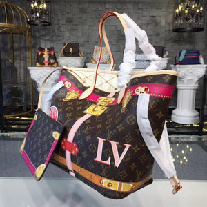 "Bolsa Louis Vuitton Neverfull MM Edition Limited ""Summer Trunk"""