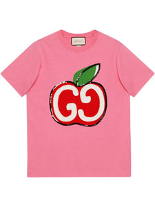 "Gucci Camiseta ""Pink/GG Apple"""