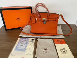 "Bolsa Hermes Birkin ""Orange"" (PRONTA ENTREGA)"