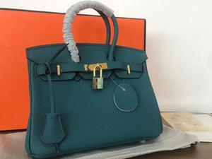 "Bolsa Hermes Birkin ""Blue/Brown"" (PRONTA ENTREGA)"