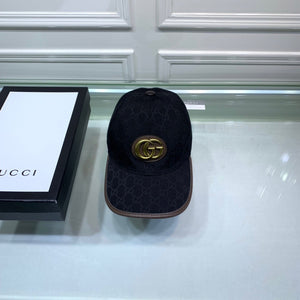 "Bonè Gucci ""Black/Brown/Logo Gold"" (PRONTA ENTREGA)"