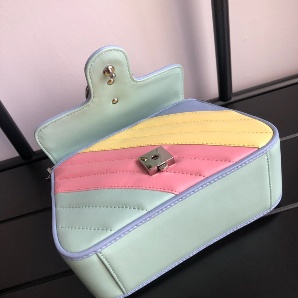 "Gucci Mini bolsa de alça GG Marmont ""Colorida"""