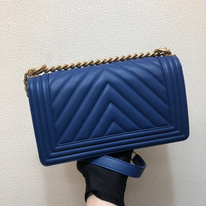 "Bolsa Chanel Le Boy ""Azul Royal"""