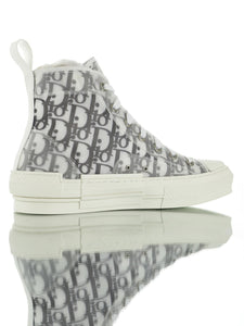 "B23 HIGH-TOP Dior Oblique ""Branco/Preto"""