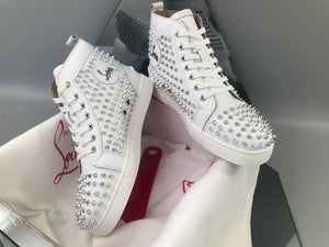 "Christian Louboutin Louis Spike "" Branco """