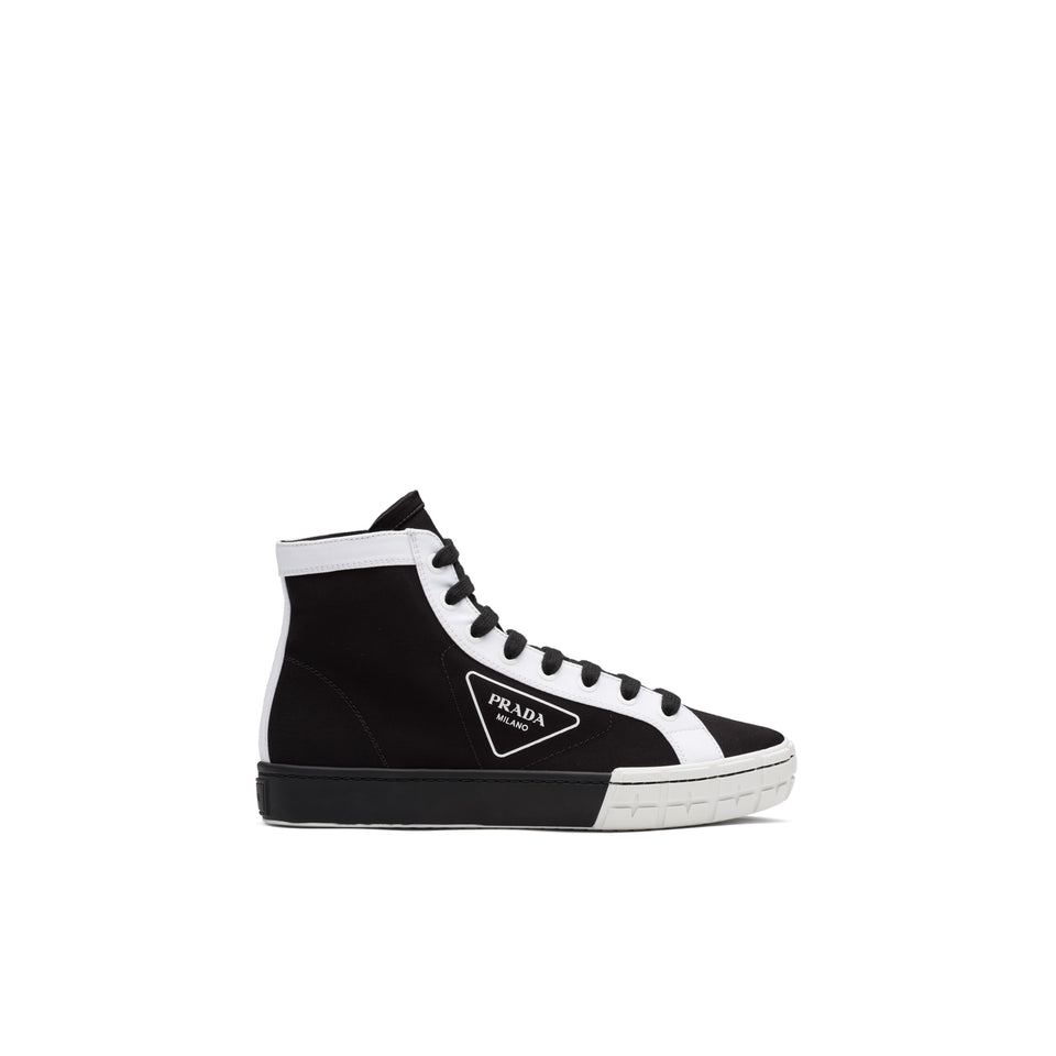 "Prada Gabardine High-Top ""Preto/Branco"""