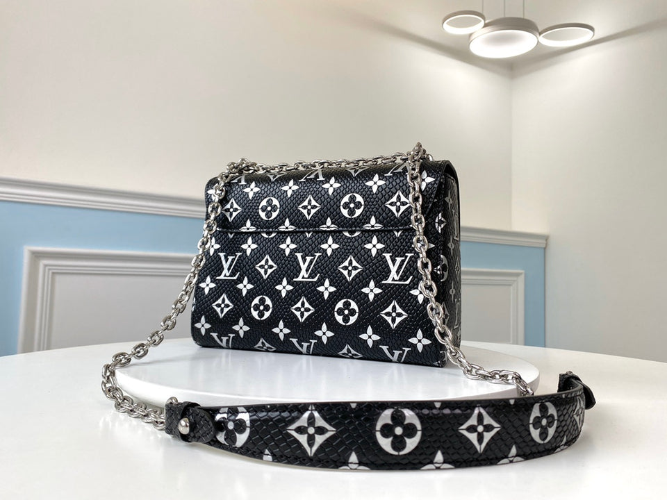 "Bolsa Louis Vuitton Twist MM ""Preta/Branca"""