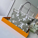 "Bolsa Louis Vuitton Neverfull  ""CANVAS MONOGRAMA Cinza/Branco/Beje"""