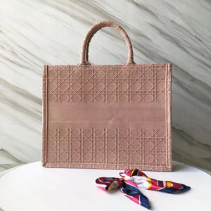 "Bolsa Christian Dior Book Tote ""Rose"""