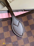 "Bolsa Louis Vuitton Neverfull ""CANVAS MONOGRAMA Marrom/Rosa Claro"""