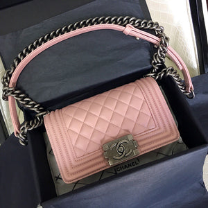 "Bolsa Chanel Le Boy ""Tea Rose"""