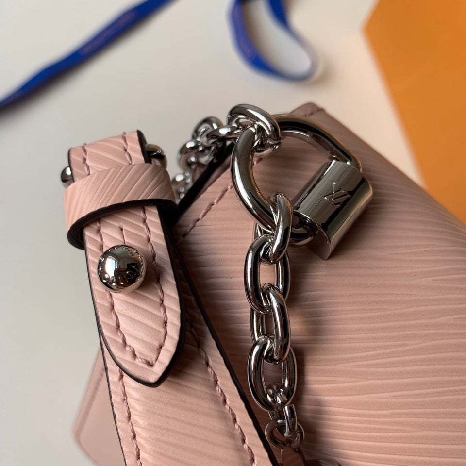 "Bolsa Louis Vuitton Twist MM ""Rosa"""