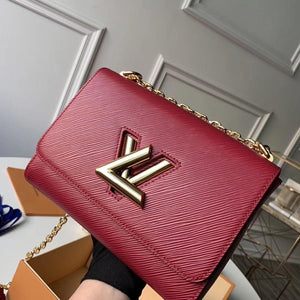 "Bolsa Louis Vuitton Twist MM ""Bordo"""