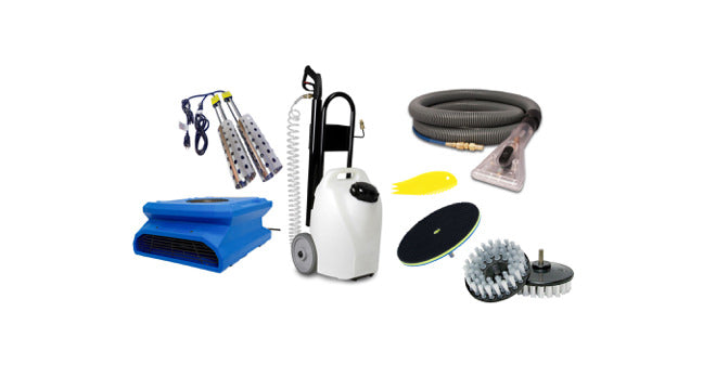 Carpet cleaning accessories for encapsulation carpet cleaning