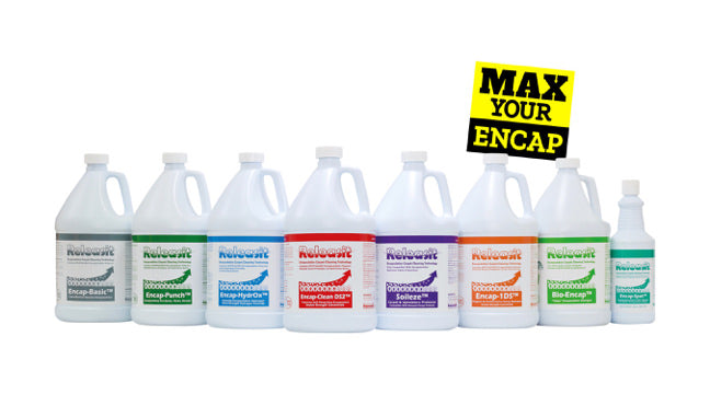 Releasit encapsulation carpet cleaning chemicals. Encap detergent.