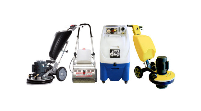 Carpet cleaning equipment for encapsulation carpet cleaning: Cimex machines, Orbot Vibe, CRB machines, Carpet extractors, and more