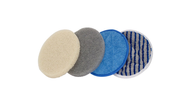 Carpet cleaning pads and bonnets. Fiberplus pads, microfiber bonnets