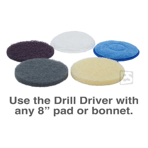 """Use the Drill Driver with any 8"""" pad or bonnet"""